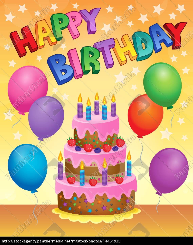 Bilder Geburtstagstorte  geburtstagstorte thema bild 9 Lizenzfreies Bild