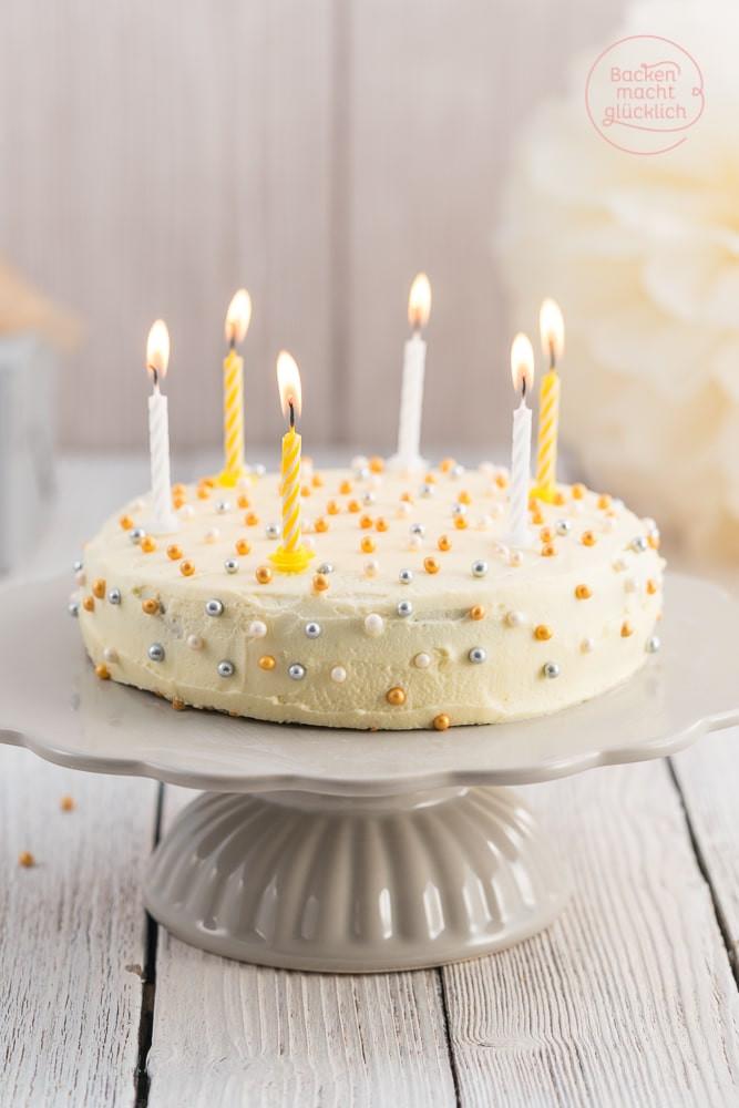 Bilder Geburtstagstorte  Einfache leckere Geburtstagstorte