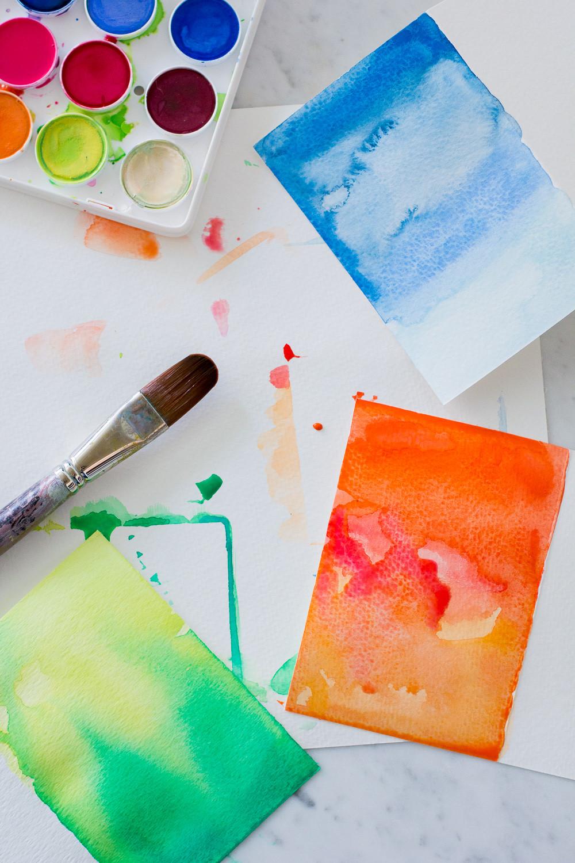 Birthday Cards Diy  DIY Watercolor Greeting Cards — Wandeleur