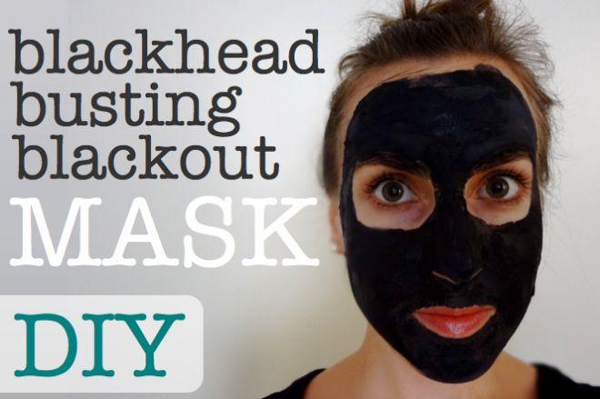 Blackhead Maske Diy  DIY All Natural Blackhead Busting Blackout Mask