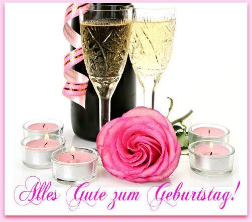 Blumen Geburtstag Bilder Kostenlos  Kerzen mit Blumen Rosen Alles Gute zum Geburtstag ツ