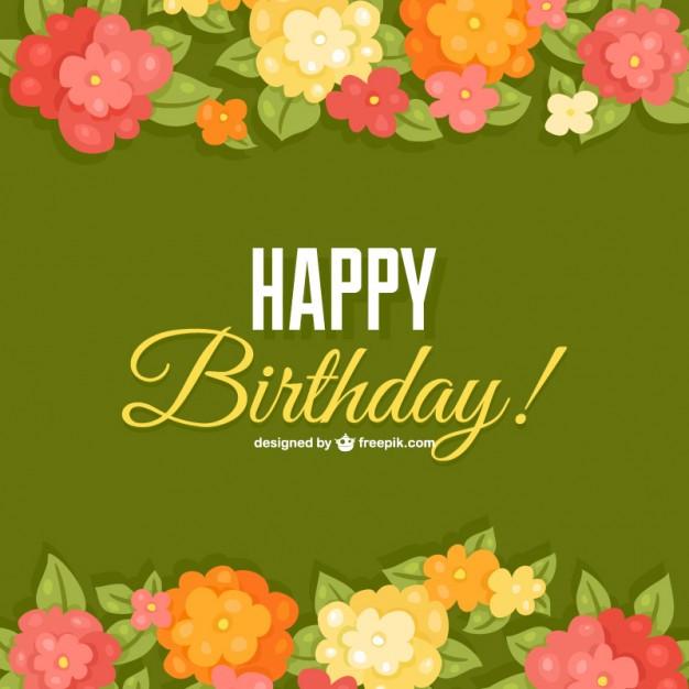 Blumen Geburtstag Bilder Kostenlos  Geburtstag Blumen Karte Vorlage