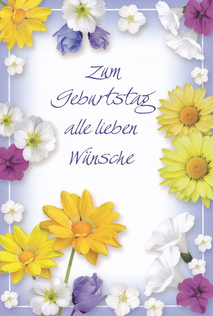 Blumen Zum Geburtstag  Geburtstag Blumen Lauretta Karten