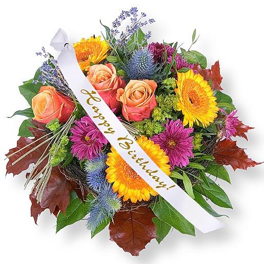 Blumen Zum Geburtstag  Blumenstrauß Colours online bestellen