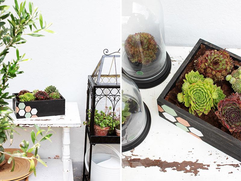 Blumenkasten Diy  DIY Blumenkasten mit Wabenprint