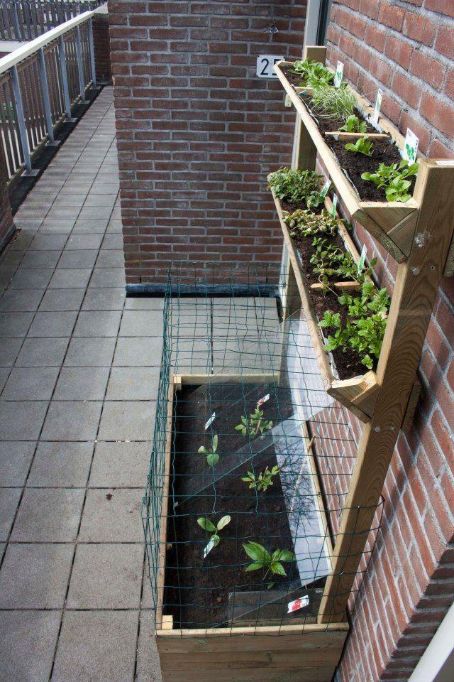 Blumenkasten Diy  Blumenkasten für den Balkon DIY apartment garden boxes