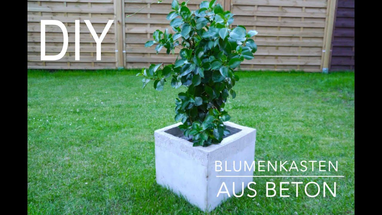 Blumenkasten Diy  DIY Blumenkasten aus Beton Anleitung