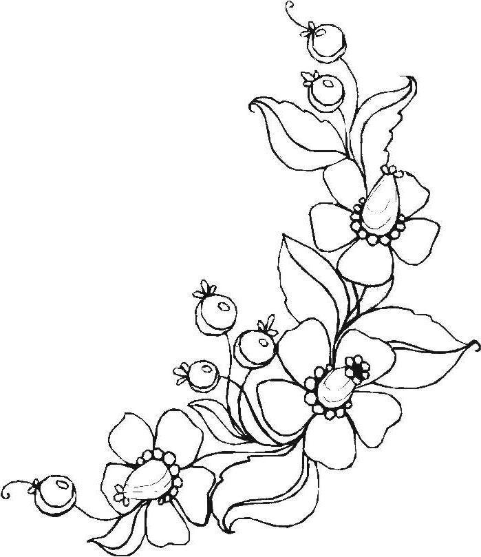 Blumenranken Ausmalbilder  Ausmalbilder Blumen Ranken 01 zeichnen