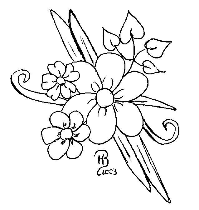 Blumenranken Ausmalbilder  Vorlagen