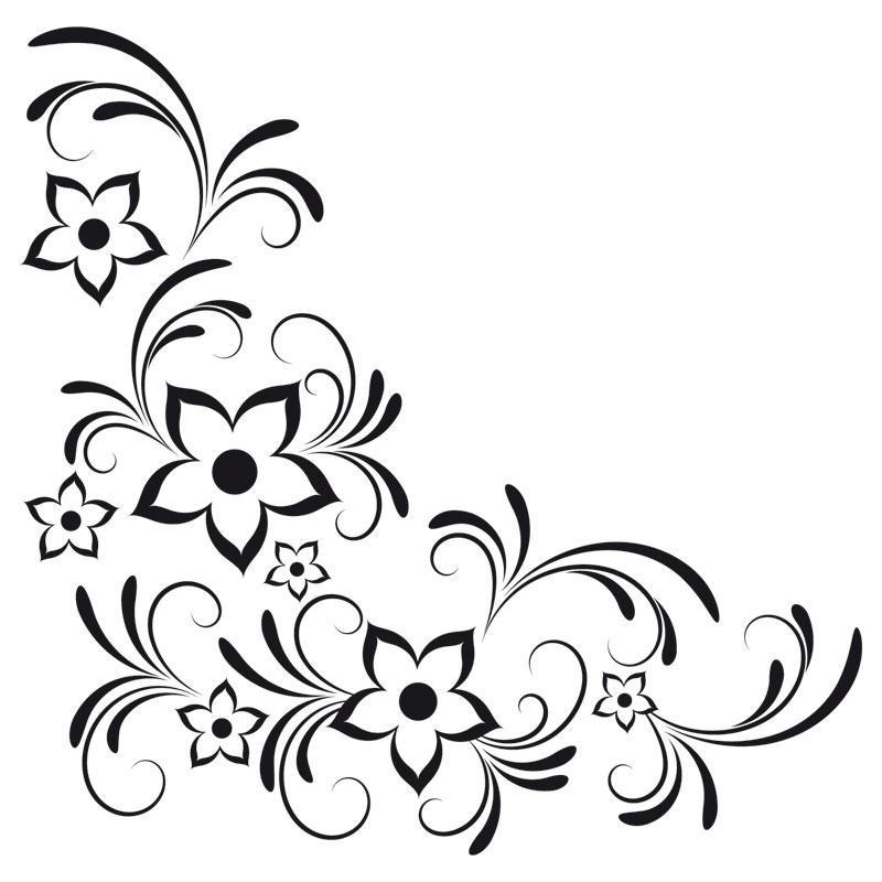 Blumenranken Ausmalbilder  Blumen ranken malvorlagen kostenlos zum ausdrucken