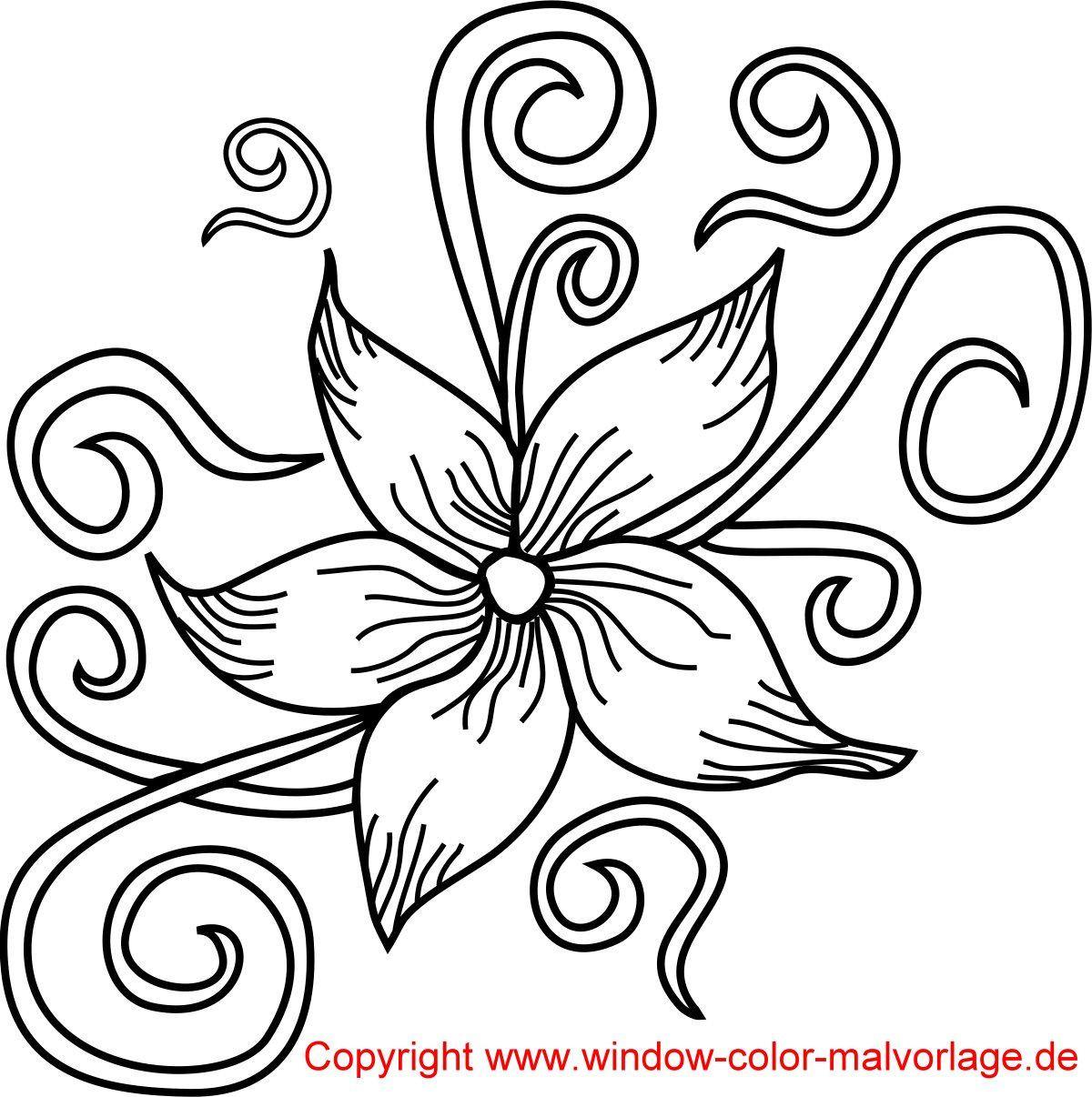 Blumenranken Ausmalbilder  Malvorlagen zum Ausdrucken Vorlagen Zeichnen