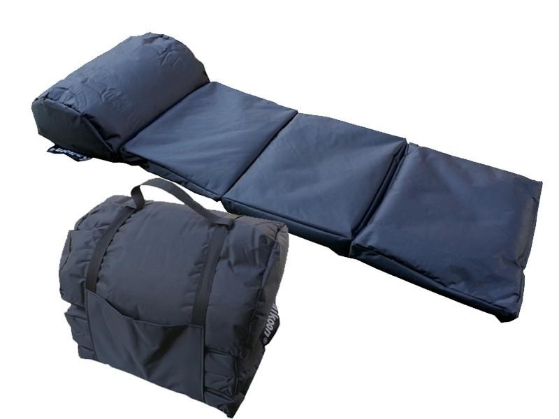 Camping Matratze  Outdoor Matratze EASY Farbe schwarz Faltmatratze