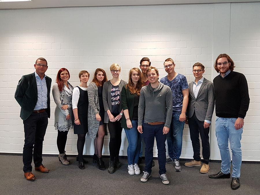 Carl-Severing-Berufskolleg Für Handwerk Und Technik  EU Praktikanten aus Zwolle NL verabschiedet Carl