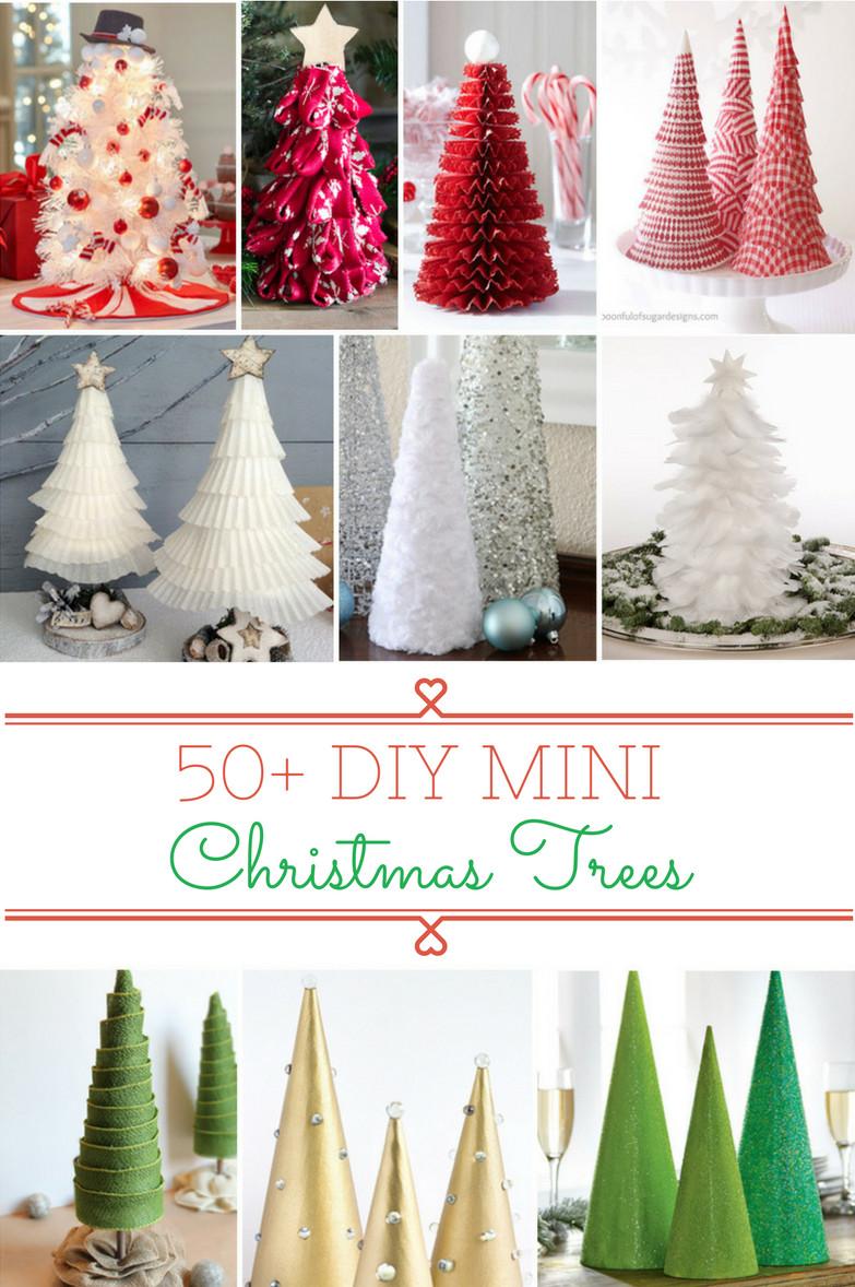 Christmas Diy  50 DIY Mini Christmas Trees Prudent Penny Pincher