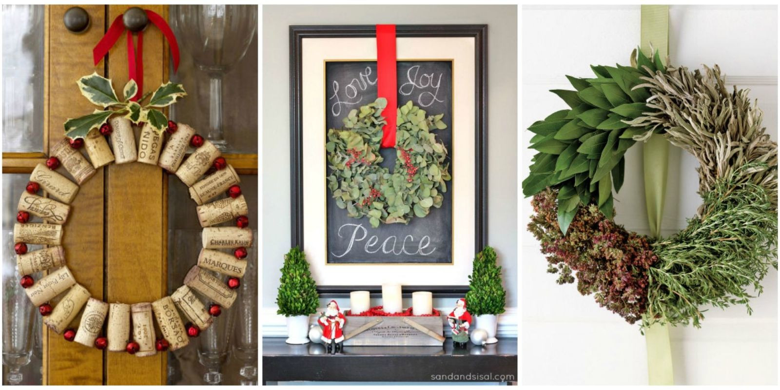 Christmas Diy  50 DIY Christmas Wreath Ideas How To Make Holiday