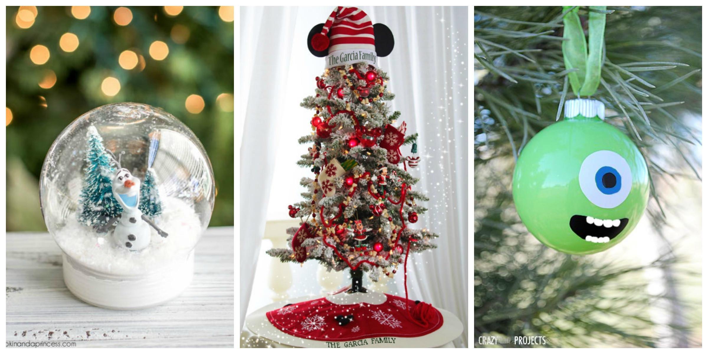 Christmas Diy  Disney Christmas Decorations DIY Disney Christmas