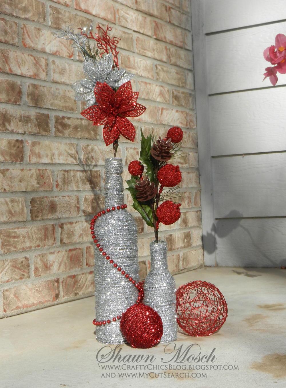 Christmas Diy  Wine Bottle DIY Christmas Decor