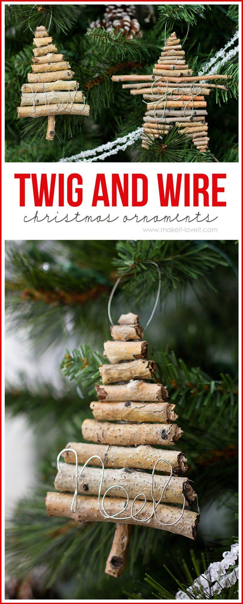 Christmas Diy  DIY Rustic Christmas Ornaments The Girl Creative