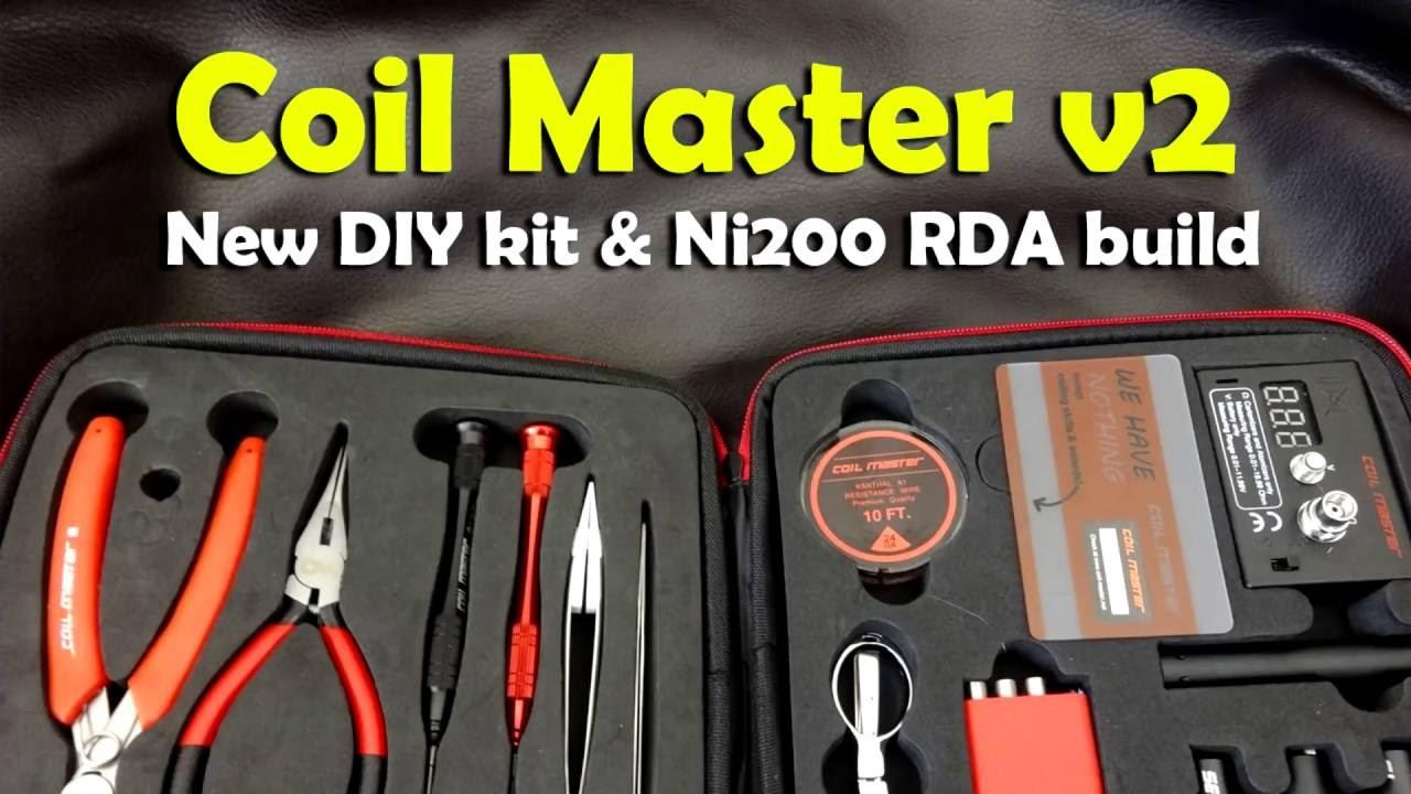 Coil Master Diy Kit V2  Coil Master DIY Kit V2 & Ni200 RDA Build