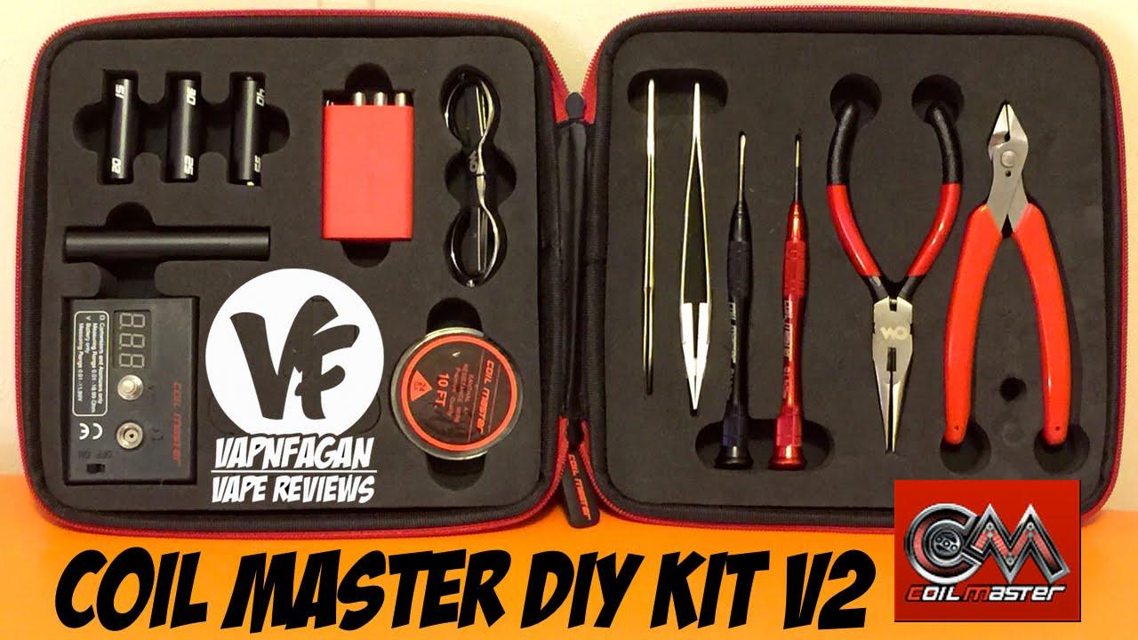 Coil Master Diy Kit V2  Coil Master DIY Kit V2 RBA Toolkit VapnFagan Reviews
