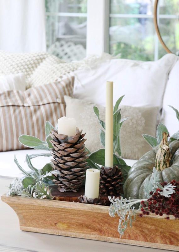 Coole Diy Ideen  20 DIY Ideen für Winterdeko mit Nadelbäume Zapfen fresHouse