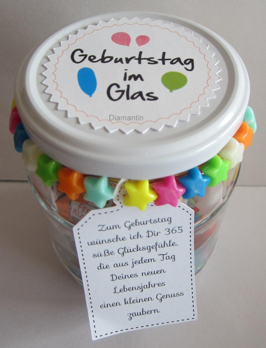 Coole Geburtstagsgeschenke  Diamantin´s Hobbywelt Geburtstag im Glas