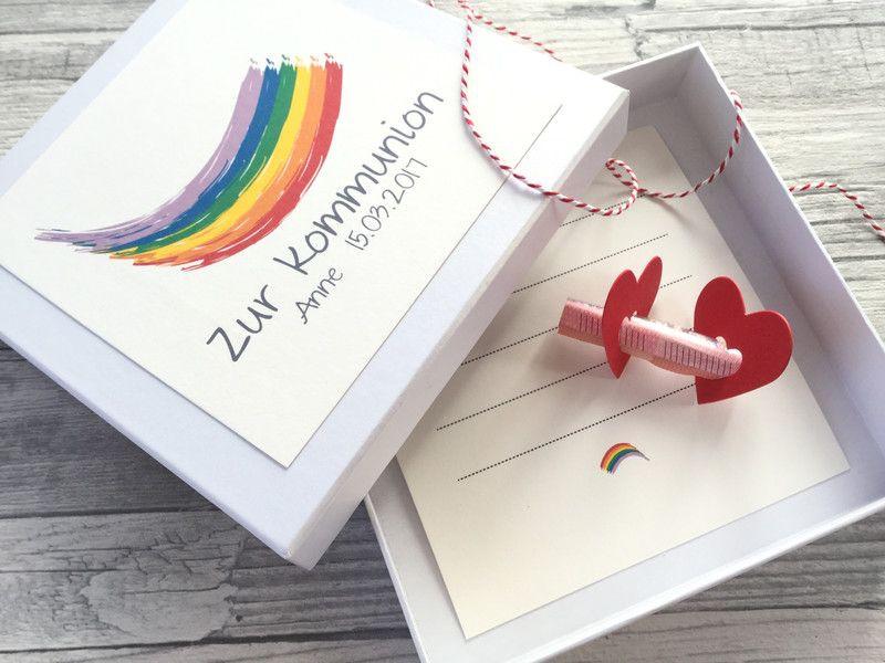 Coole Geschenke Zur Kommunion  Geldgeschenke Geldgeschenk zur Kommunion Regenbogen