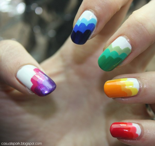 Coole Nageldesign  coole nageldesign regenbogen 2017