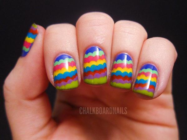 Coole Nageldesign  coole nageldesign regenbogen 7