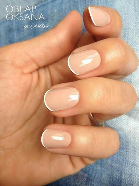 Coole Nageldesigns Kurze Nägel  French manicure kurze nägel