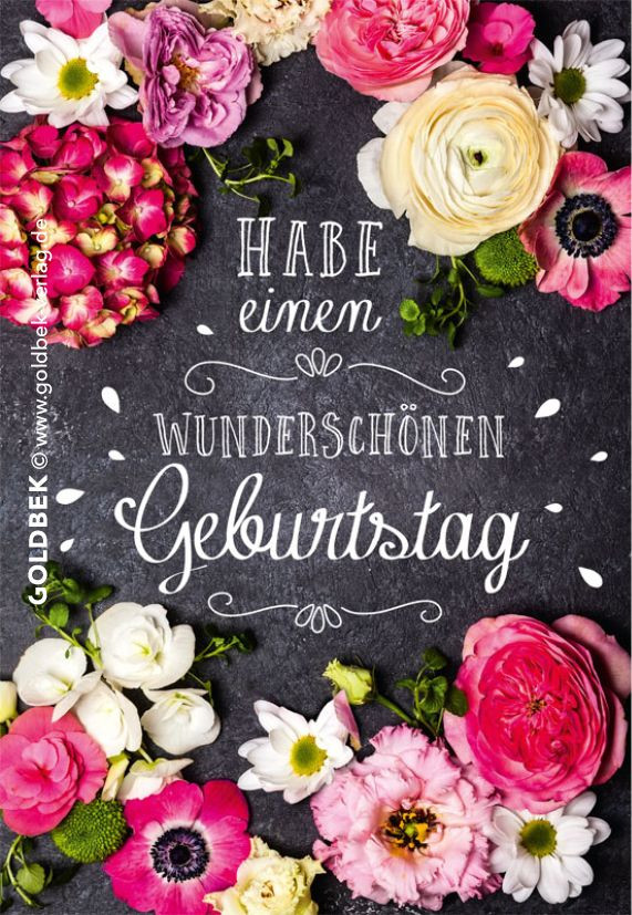 Danke Für Geburtstagsglückwünsche  Postkarten Geburtstag Schönes modernes Blumenmotiv