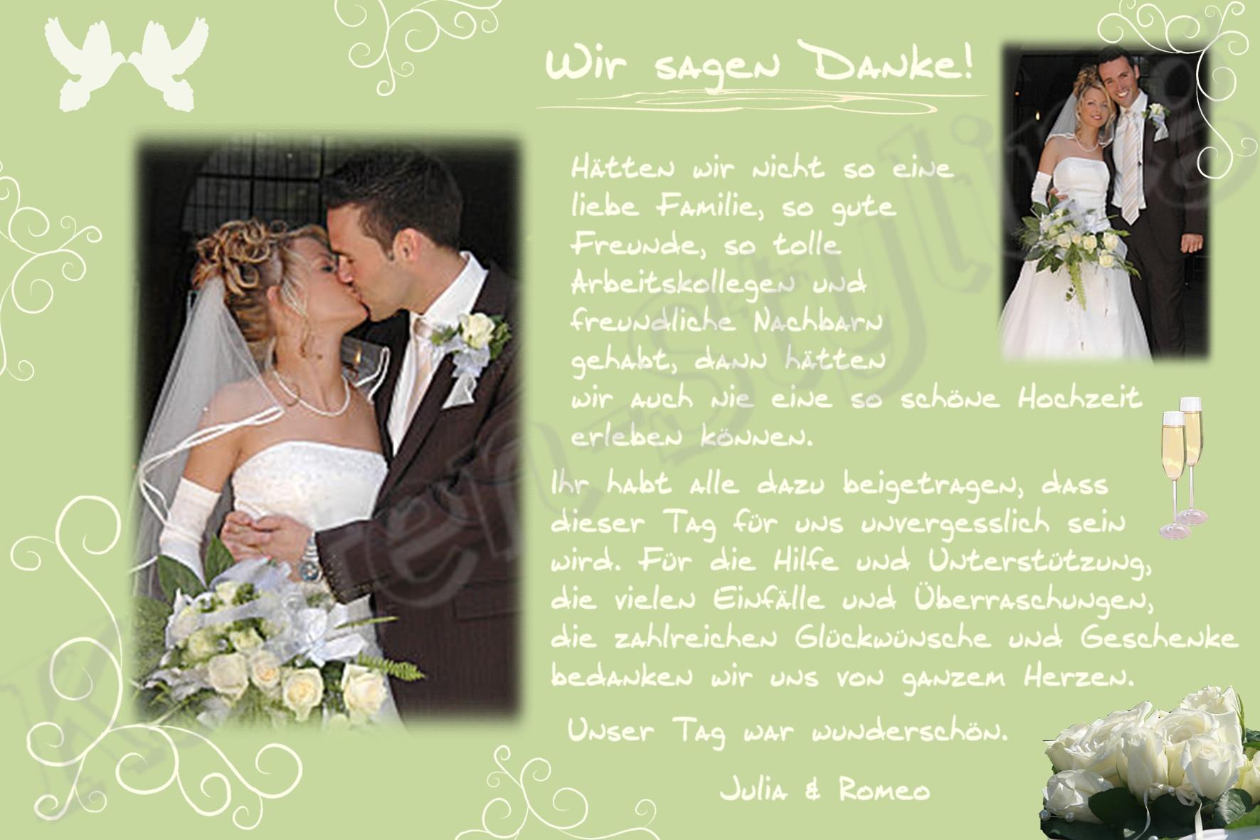 Danksagung Hochzeit Textvorschläge Modern  Danksagung Einladung Hochzeit Pappkarte Foto Danksagungskarte Karte Postkarte