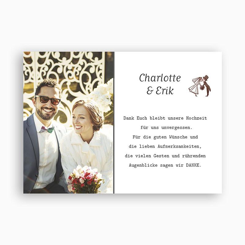 Danksagung Hochzeit Textvorschläge Modern  Danksagungskarten Hochzeit Festlicher Bouquet