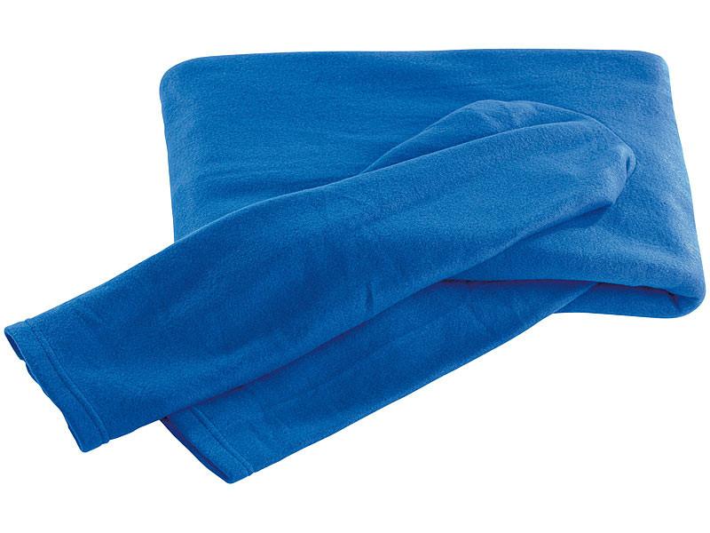 Decken Mit Ärmeln  PEARL Ärmel Decken Fleece Kuscheldecke mit Ärmeln blau