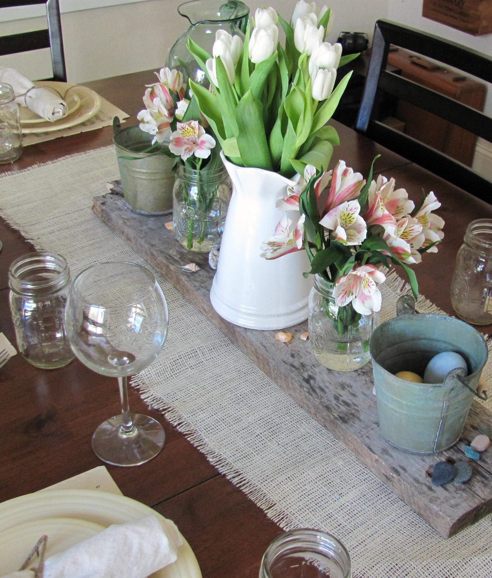 Decken Mit Ärmeln  Tisch decken mit Sackleinen fresHouse