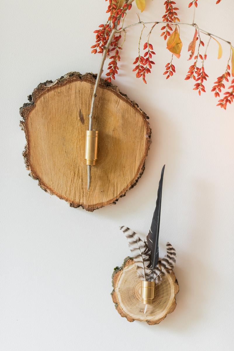 Deko Diy  DIY herbstliche Wanddeko aus Baumscheiben Leelah Loves