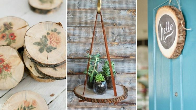 Dekoideen Diy  Deko mit Holzscheiben selber machen 30 wunderschöne DIY