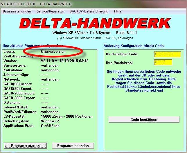 Delta Handwerk  Aktuelles Update für Delta Handwerk jetzt anfordern