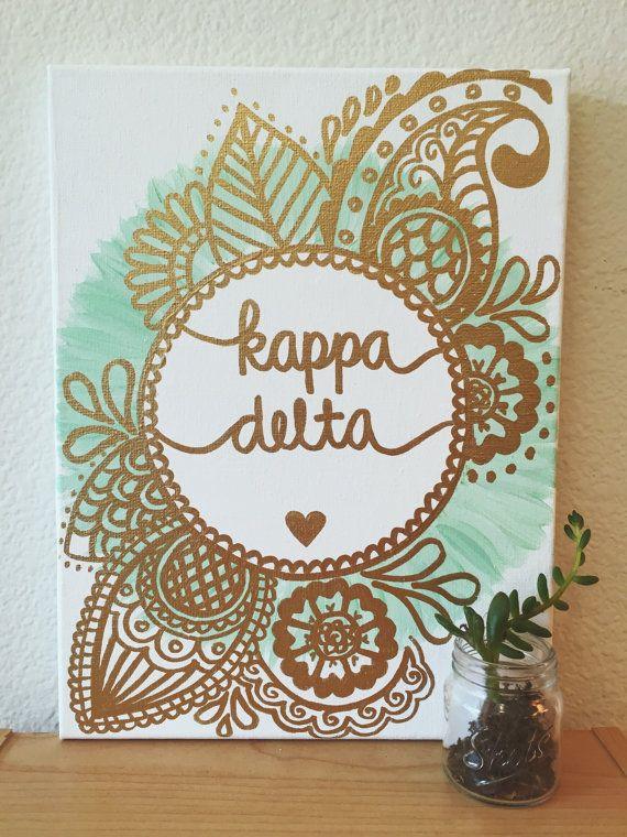 Delta Handwerk  Die besten 25 Kappa delta Ideen auf Pinterest
