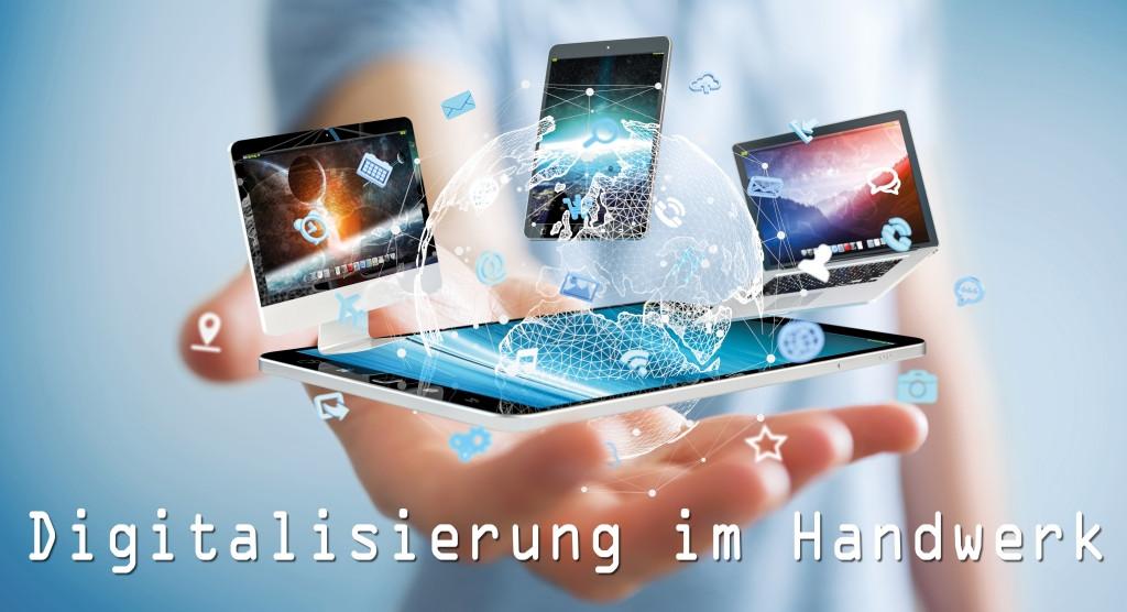 Digitalisierung Handwerk  Digitalisierung im Handwerk unverzichtbar blue solution