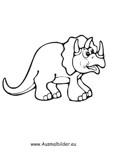 Dino Malvorlagen  Ausmalbilder Nashorn Dinosaurier Dinosaurier Malvorlagen