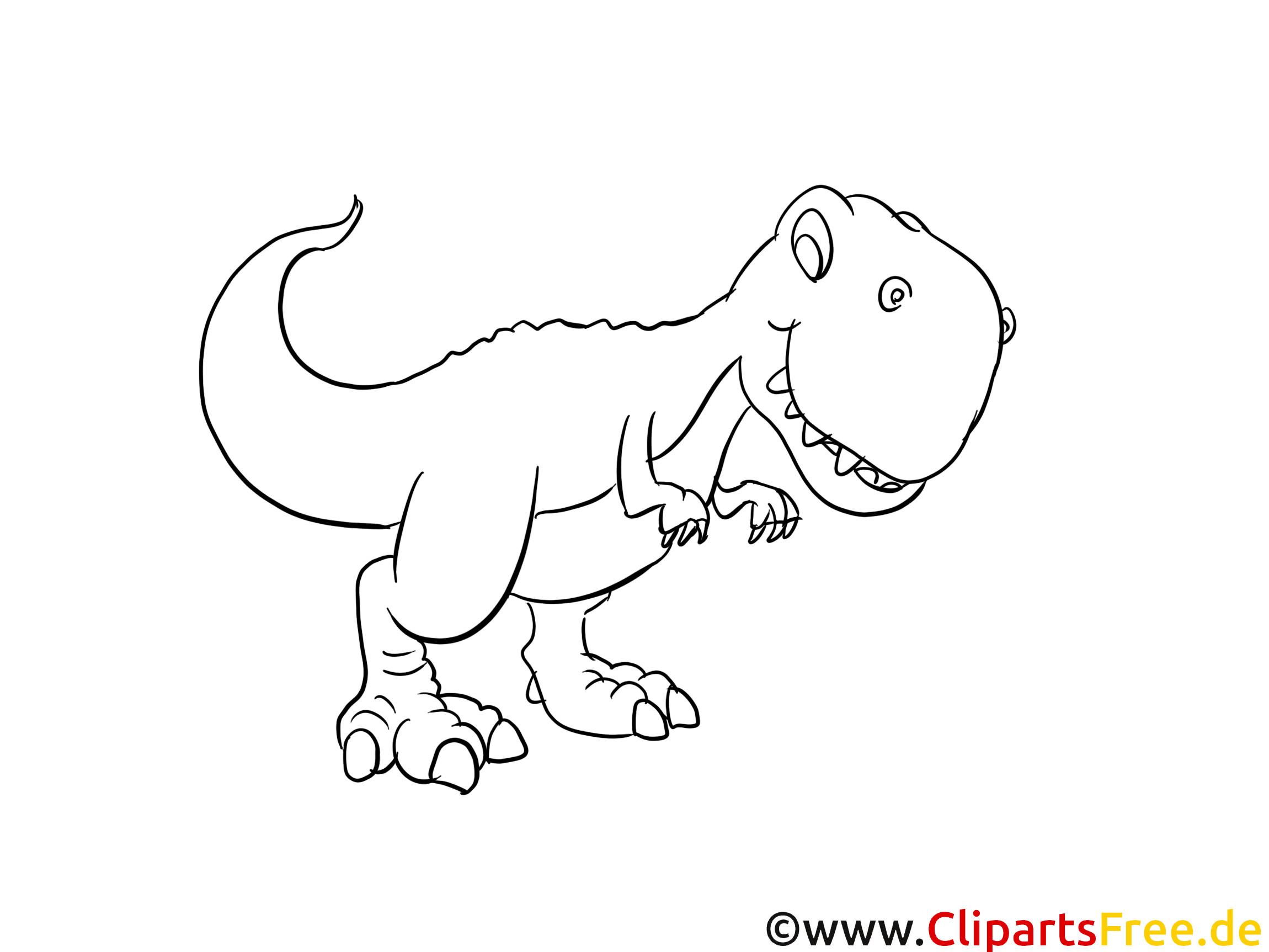 Dino Malvorlagen  Rex Dinosaurier Ausmalbild