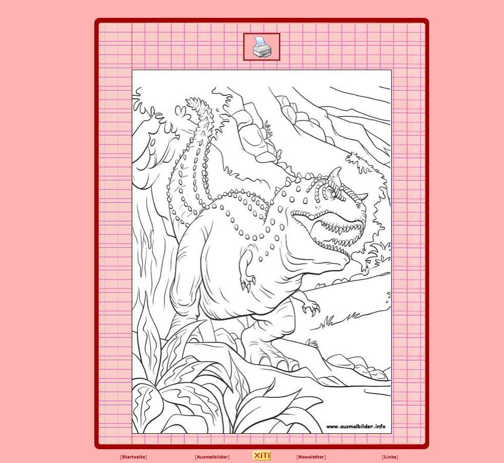 Dinosaurier Kampf Ausmalbilder  Dinosaurier Ausmalbilder kostenlos zum Ausdrucken online