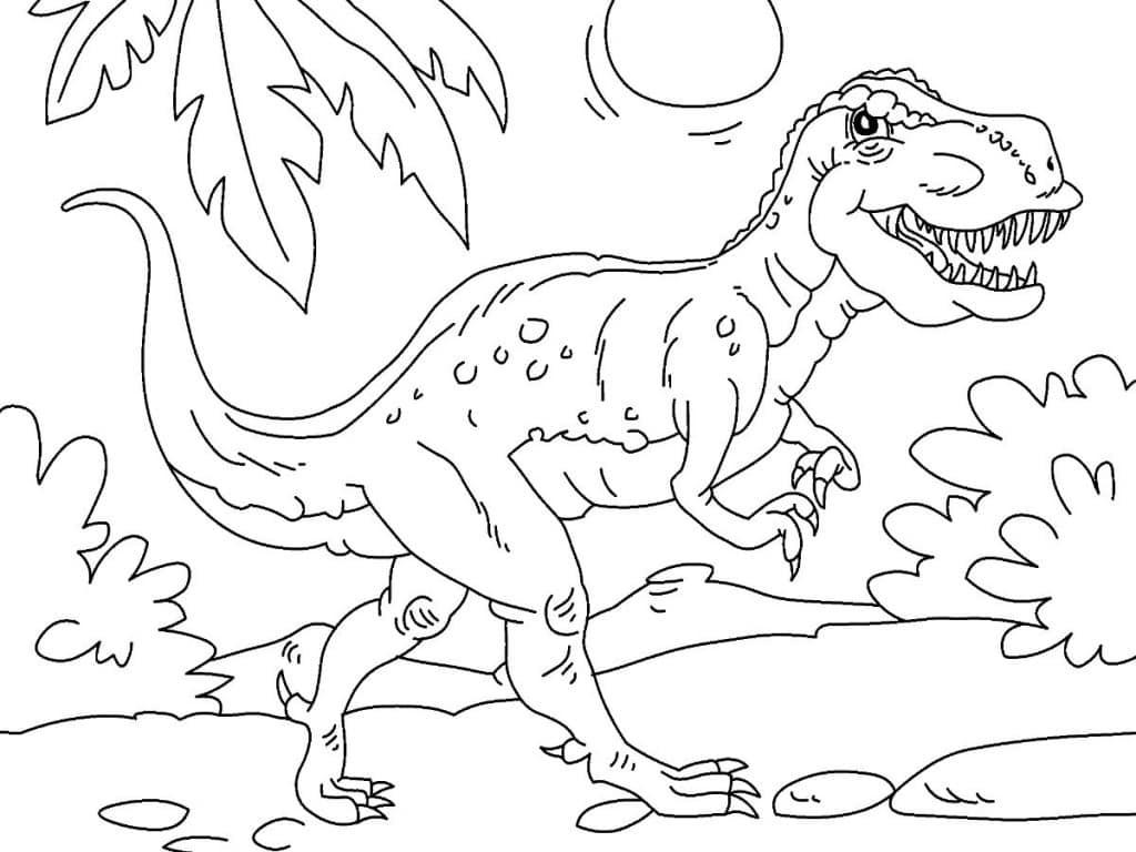 Dinosaurier Kampf Ausmalbilder  Dinosaurios para niños
