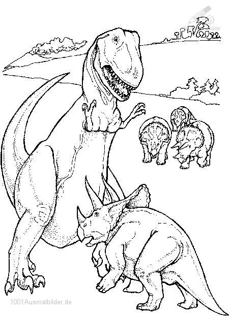 Dinosaurier Kampf Ausmalbilder  Drachen und andere Fabelwesen Bilder Tattoos Geschichten