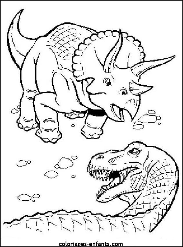 Dinosaurier Kampf Ausmalbilder  204 dessins de coloriage dinosaure à imprimer sur