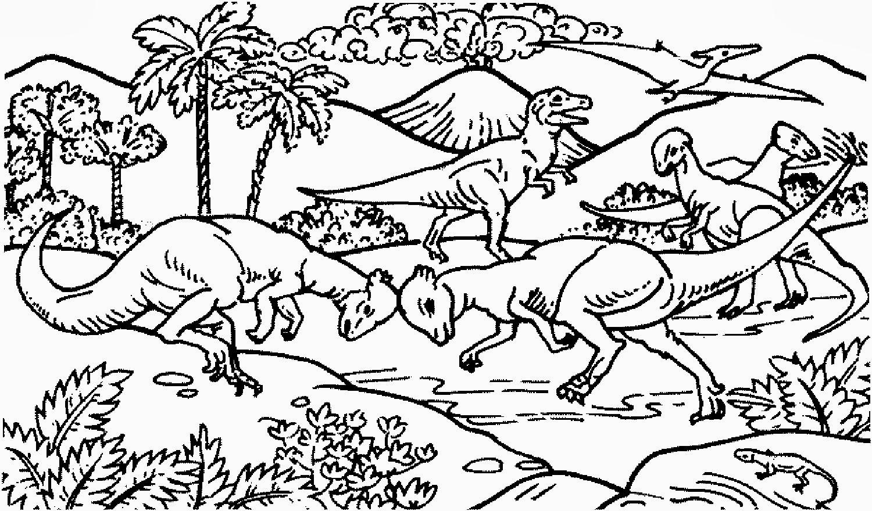 Dinosaurier Kampf Ausmalbilder  Malvorlagen Gratis MALVORLAGEN DINO