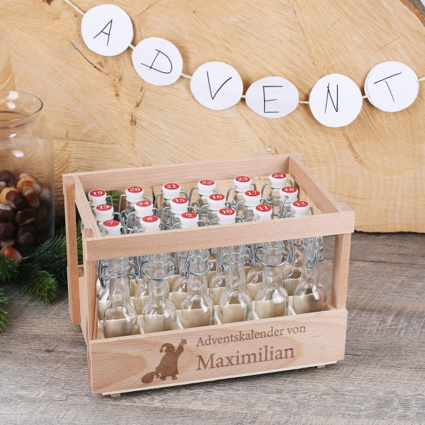 Diy Adventskalender Beste Freundin  DIY Adventskalender mit 24 Bügelflaschen