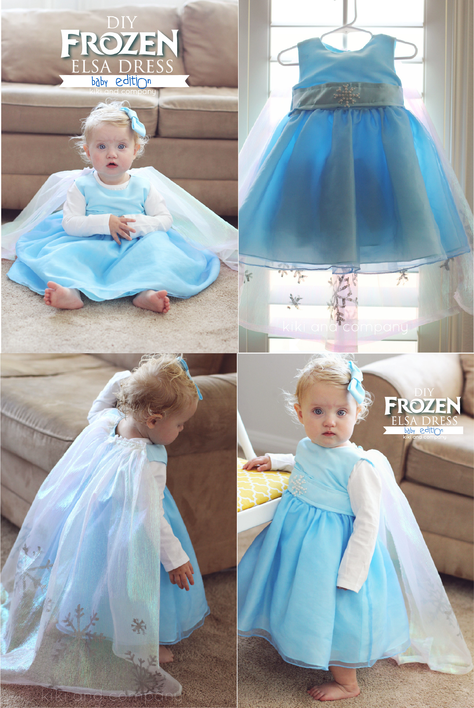 Diy Baby  DIY Frozen Elsa Dress BABY Edition free tutorial Kiki