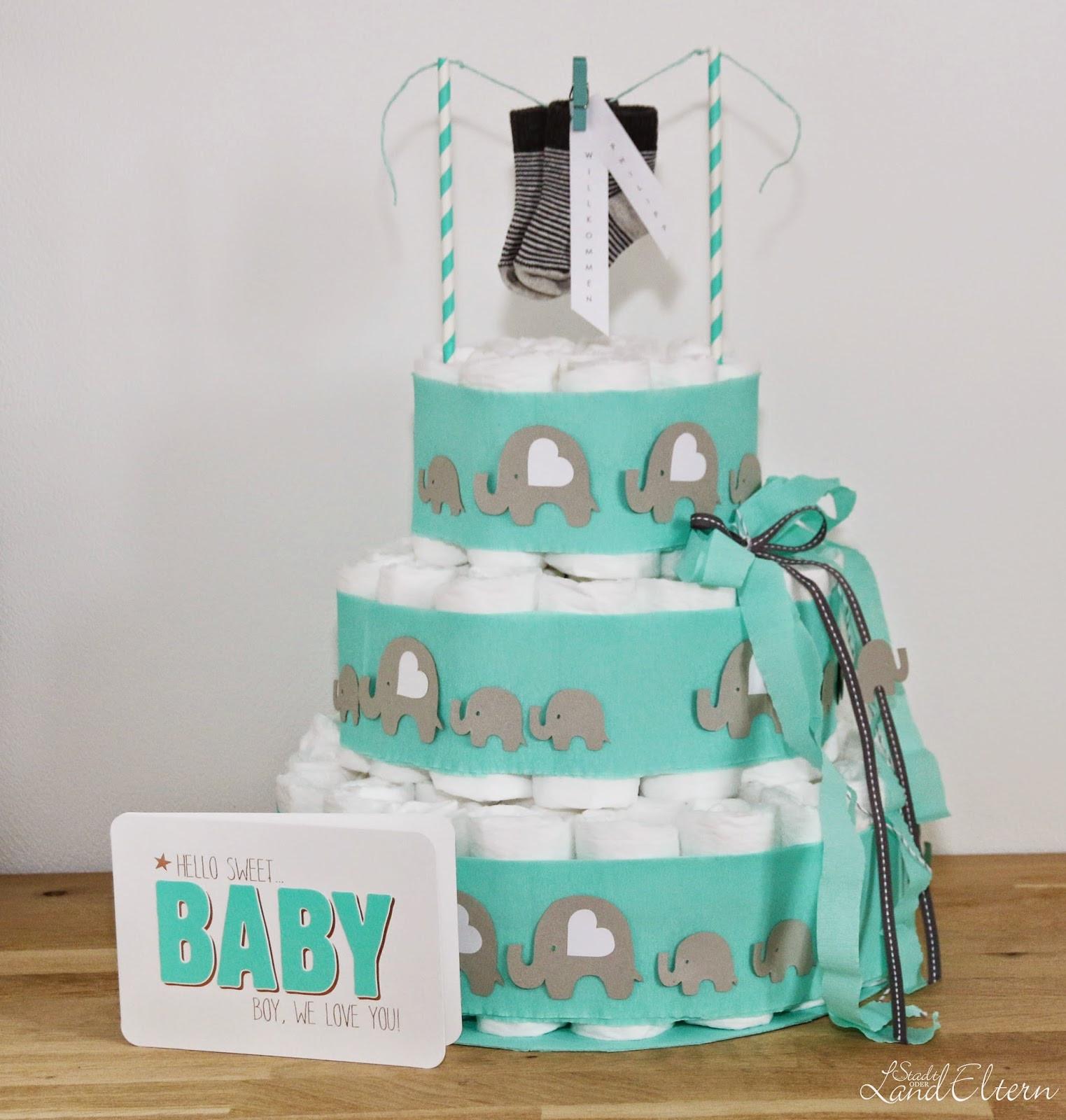 Diy Baby Geschenk  DIY Windeltorte als Geschenk zur Geburt